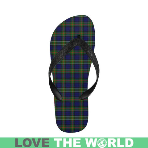 Image of Colquhoun Modern Tartan Flip Flops For Men/women S9 Unisex