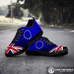 Cook Islands Sneakers - Polynesian Pattern Flag A6