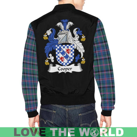 Cooper Tartan Clan Badge Modern Bomber Jacket Ha8 Xs / Men Jackets