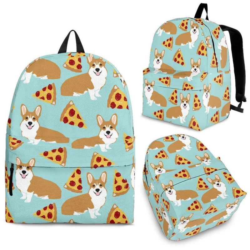 c5bff92b243e CORGI PIZZA BACKPACK – 1stTheWorld