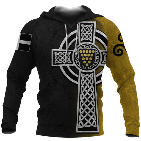 Image of Cornwall Hoodie - Cornish Celtic Cross front