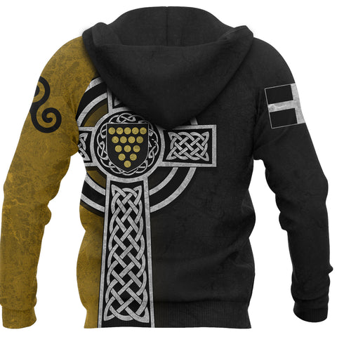 Image of Cornwall Hoodie - Cornish Celtic Cross back