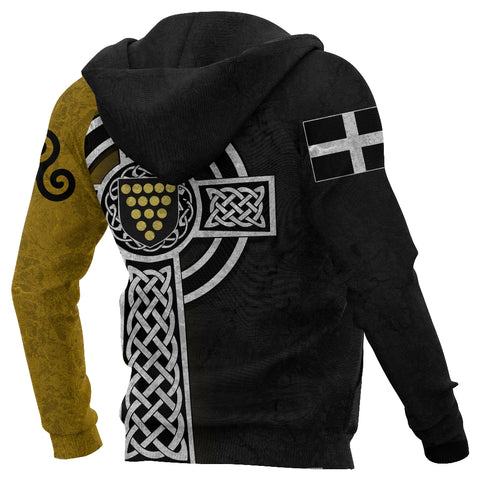 Cornwall Hoodie - Cornish Celtic Cross back 2