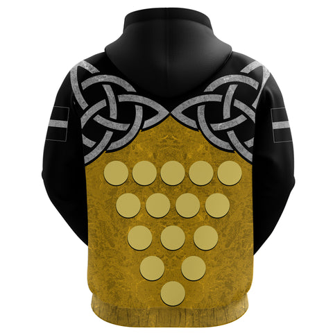Cornwall Celtic Knot Hoodie back | clothing | Love Cornwall