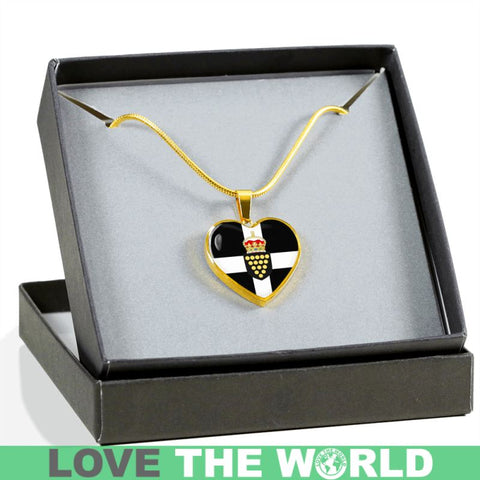 Cornwall Coat Of Arms Golden Heart Jewelry S12 Luxury Necklace (Gold) Jewelries