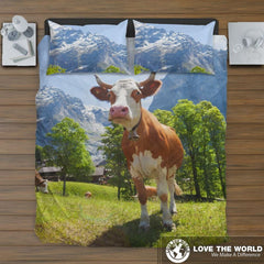 Cow In Switzerland Bedding Set C1 Sets