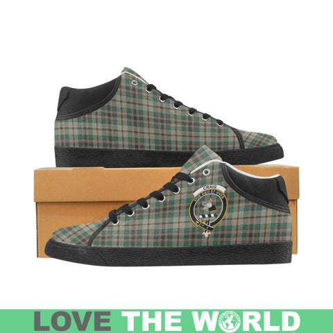 Craig Ancien Tartan Chukka Canvas Shoes - Tn Us5 / Craig Ancient Black Womens Chukka Canvas Shoes