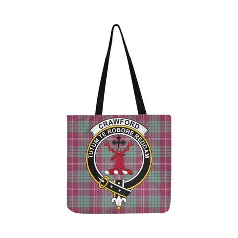 Crawford Ancient Clan Badge Tartan Reusable Shopping Bag - Hb1 Bags