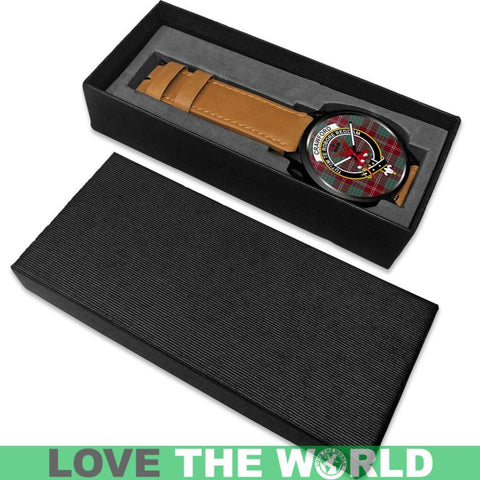Crawford Modern Clan Badge Tartan Leather/steel WATCH - NN5 Mens 40Mm / Brown Leather-Steel Watches