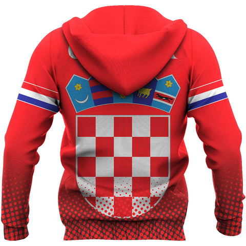 Image of Croatia Coat Of Arms Hoodie | Special Custom Design