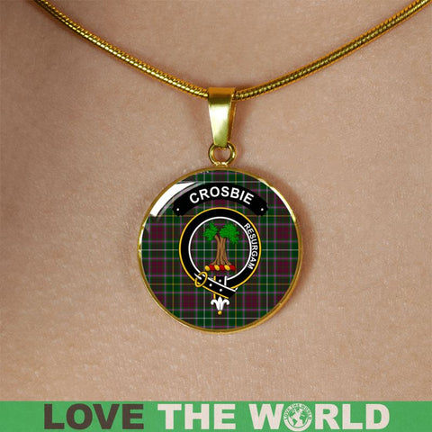 Crosbie (Or Crosby) Clan Tartan Golden (Necklace/Bangle)  A9 |Accessories| 1sttheworld