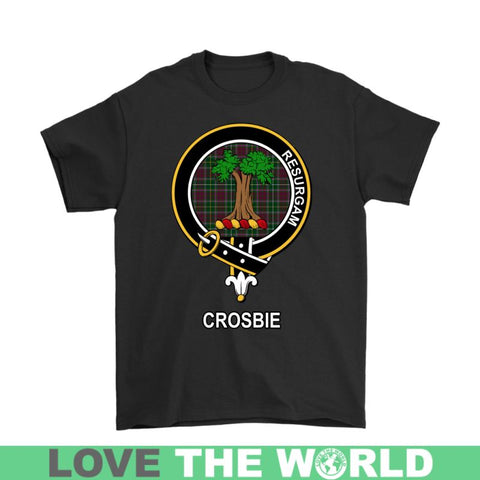Crosbie (Or Crosby) Clan Tartan Shirt F1 Gildan Long Sleeve Tee / Black S T-Shirts