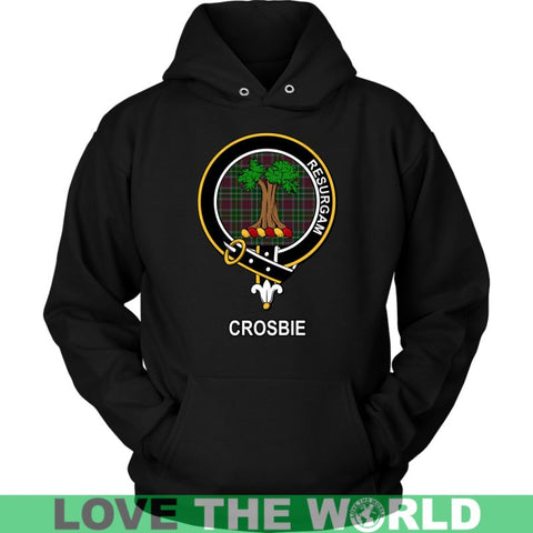 Image of Crosbie (Or Crosby) Clan Tartan Shirt F1 Gildan Long Sleeve Tee / Black S T-Shirts