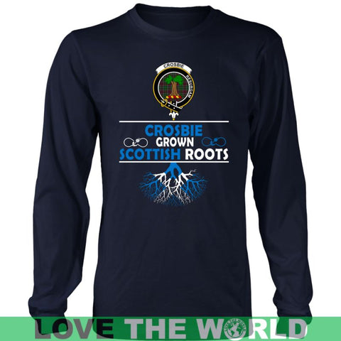 Crosbie Tartan Scottish Roots T-Shirt Nl25 Gildan Mens T-Shirt / Black S T-Shirts