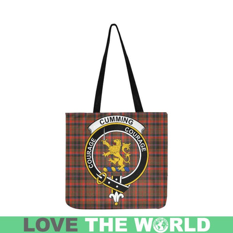 Cumming Hunting Weathered Clan Badge Tartan Reusable Shopping Bag - Hb1 Bags