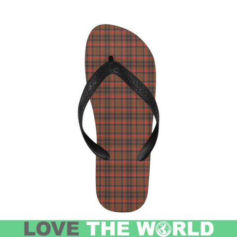 Cumming Hunting Weathered Tartan Flip Flops For Men/women S9 Unisex