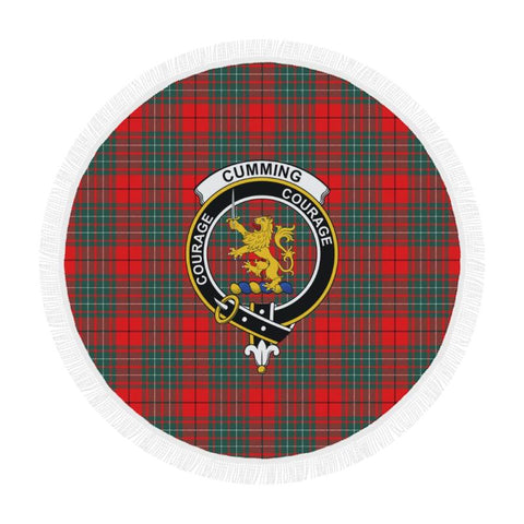 Image of Cumming Modern Clan Badge Tartan Circular Shawl C11 Shawls