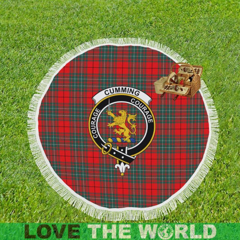Cumming Modern Clan Badge Tartan Circular Shawl C11 Shawls