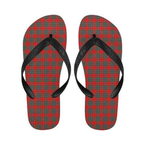 Image of Cumming Modern Tartan Flip Flops For Men/women S9 Unisex
