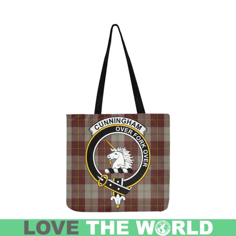 Cunningham Burgundy Dancers Clan Badge Tartan Reusable Shopping Bag - Hb1 Bags