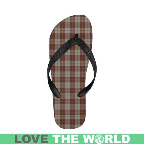 Cunningham Burgundy Dancers Tartan Flip Flops For Men/women S9 Unisex