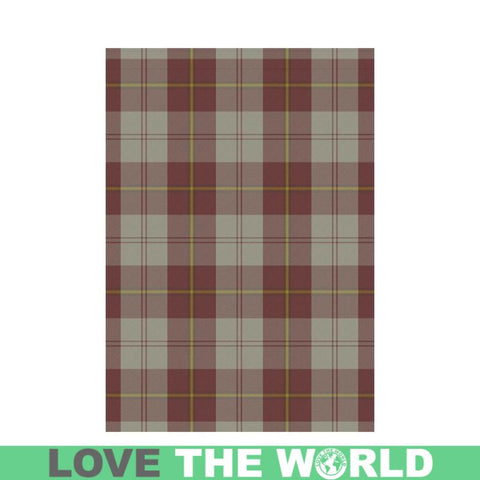 Cunningham Burgundy Dancers Tartan Flag K7 |Home Decor| 1sttheworld