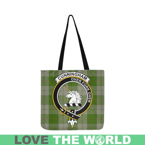 Cunningham Dress Green Dancers Clan Badge Tartan Reusable Shopping Bag - Hb1 Bags
