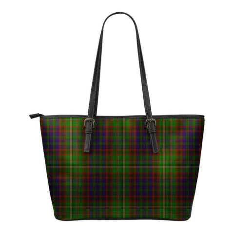 Cunningham Hunting Modern  Tartan Handbag - Tartan Small Leather Tote Bag Nn5 |Bags| Love The World