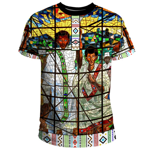 Custom Ethiopia T-Shirt, Ethiopian Orthodox Flag No Coat Of Arms A10