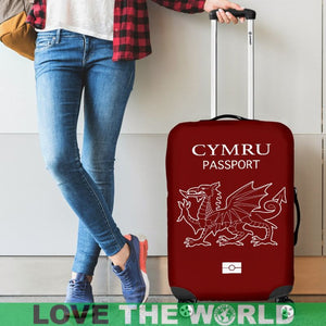 CYMRU PASSPORT RED LUGGAGE COVER - BN
