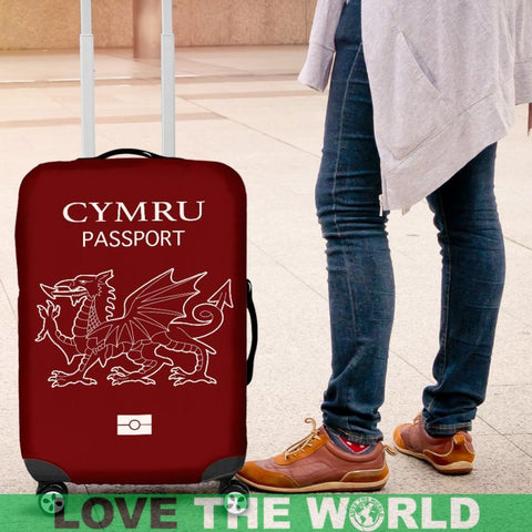 Cymru Passport Red Luggage Cover - Bn Covers