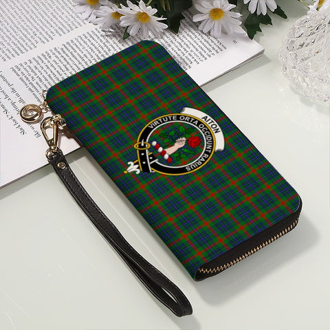 AITON TARTAN CLAN BADGE ZIPPER WALLET HJ4