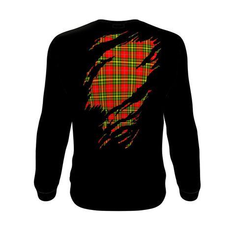 Leask Tartan Sweatshirt In Me Clan Badge