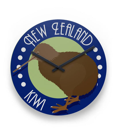 New Zealand Kiwi Wall Clock K4