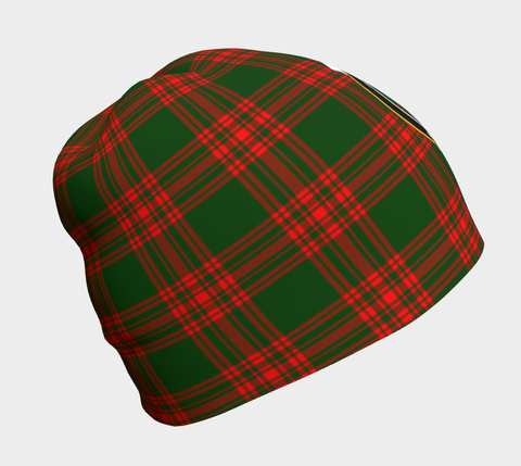 Image of Menzies Green Modern Tartan Clan Crest Beanie