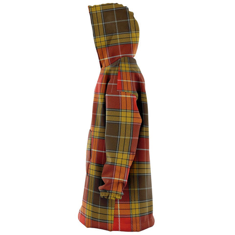 Image of Buchanan Old Set Weathered Snug Hoodie - Unisex Tartan Plaid Left