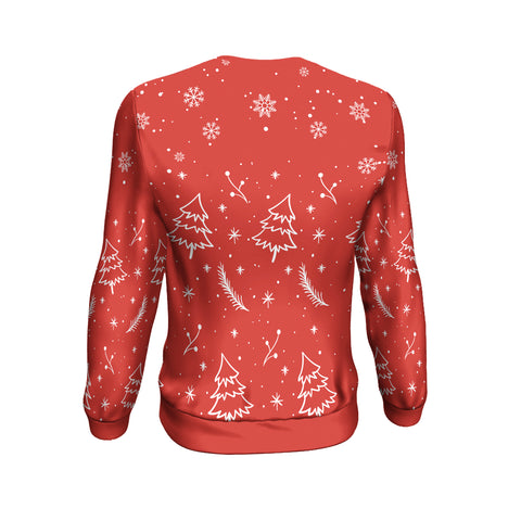 Christmas Custom Personalised Sweatshirt - Christmas Ugly Pine Red - BN
