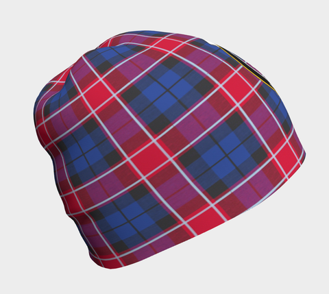 Image of Graham of Menteith Red Tartan Clan Crest Beanie