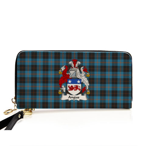 ANGUS  TARTAN CLAN BADGE ZIPPER WALLET HJ4
