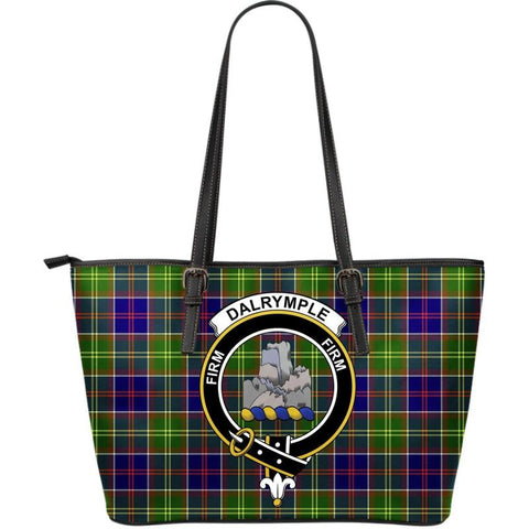 Dalrymple Tartan Handbag - Clan Badge Large Leather Tartan Bag