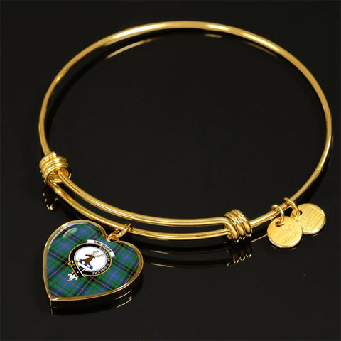 Davidson Ancient Tartan Golden Bangle - Tm Adjustable Bangle Jewelries