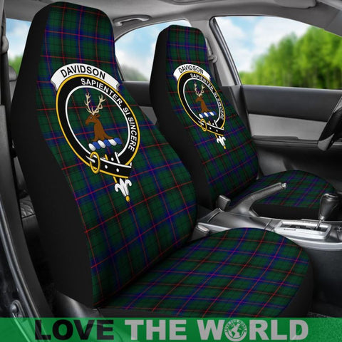 Davidson Clan Badges Tartan Car Seat Cover Ha5