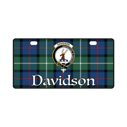 Davidson Of Tulloch Tartan License Plates - Bn |Car Accessories| 1sttheworld