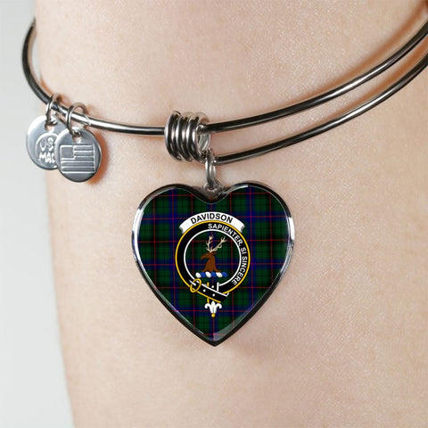 Davidson Tartan Silver Bangle - Sd1 Jewelries