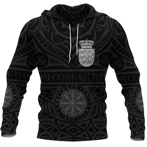 Image of Denmark Vikings Tattoo Hoodie