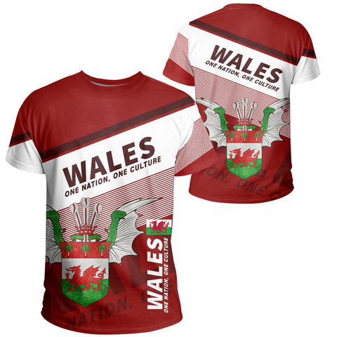 Image of Wales T-shirt Flag Motto - Limited Style
