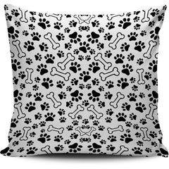 DOG PAWS PILLOW COVER