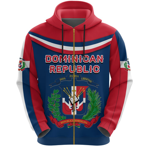Dominican Republic Zip Hoodie - Vibes Version K8