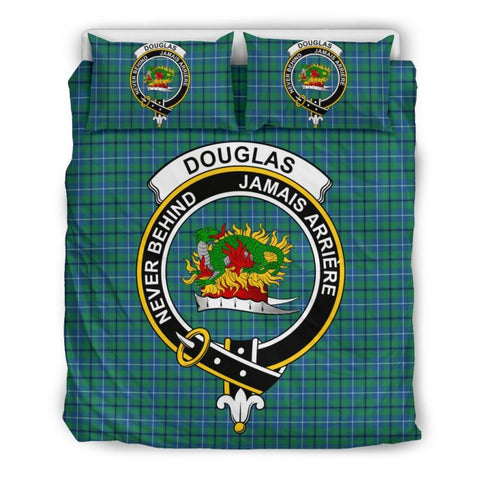 Douglas Ancient Clan Badge Tartan Bedding Set Th1 Bedding Set - Black Black / Queen/full Sets