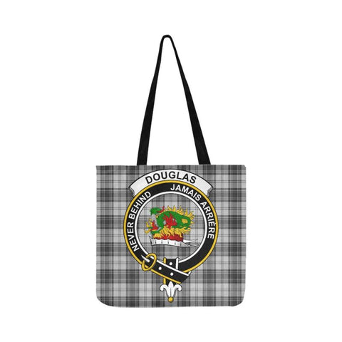 Douglas Grey Modern Clan Badge Tartan Reusable Shopping Bag - Hb1 Bags
